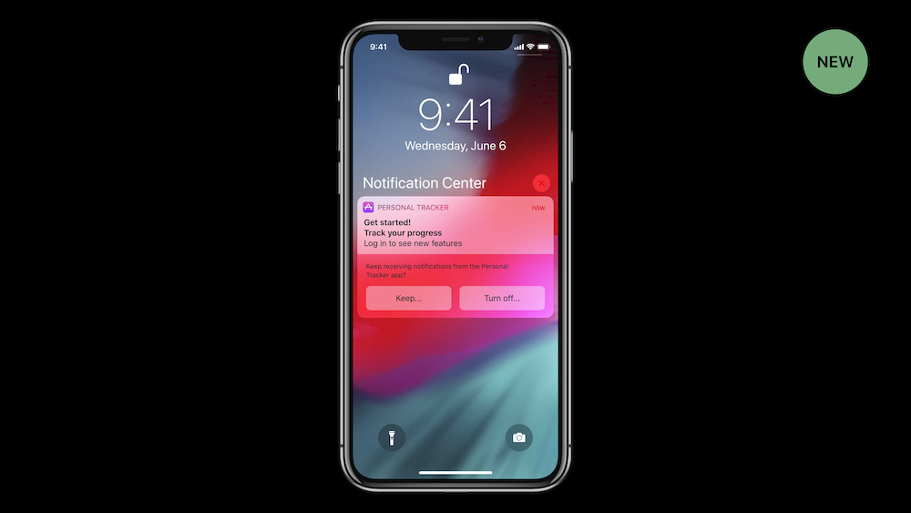 "Slide from WWDC 18's ""What's New in User Notifications"""